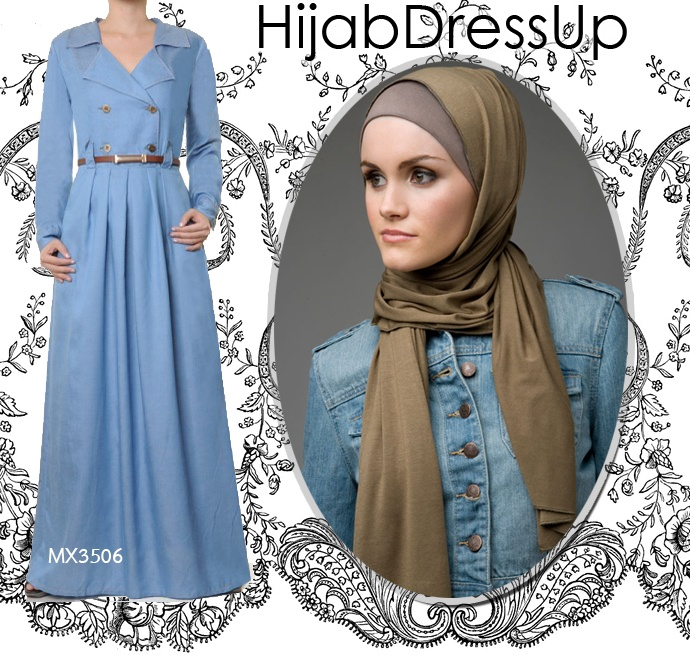 Abaya # Maxi Dress # Denim