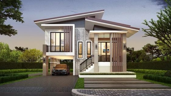 Modern Three Bedroom Two Story House With 2 Car Garage Ulric Home In 2020 Philippines House Design 2 Storey House Design Modern Bungalow House