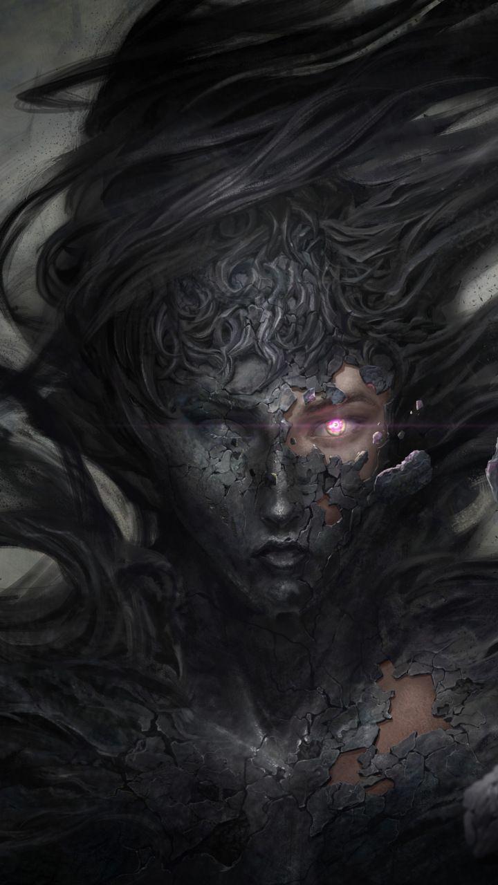 Dark Demon Fantasy Witch 5k 720x1280 Wallpaper Dark Fantasy Art