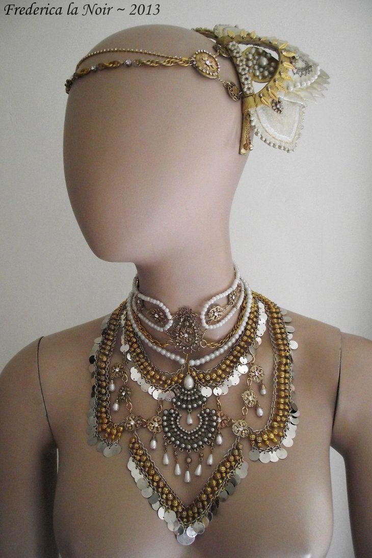 Satine Moulin Rouge Headdress And Necklace By Frederica La Noir On Deviantart Paint Me