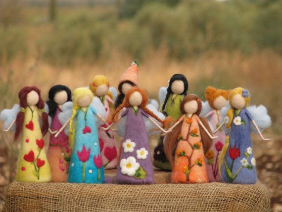 Needle felted waldorf inspired fairies by Made4uByMagic on Etsy