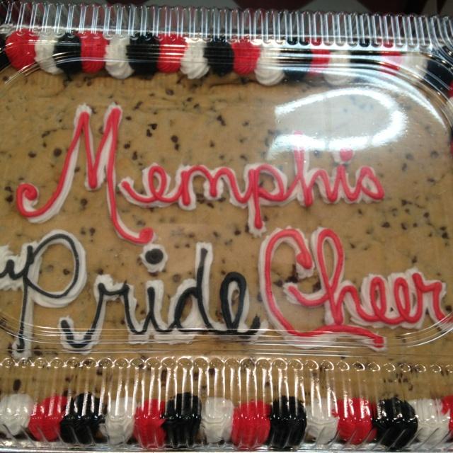 Memphis Pride Cheer Cookie Cake