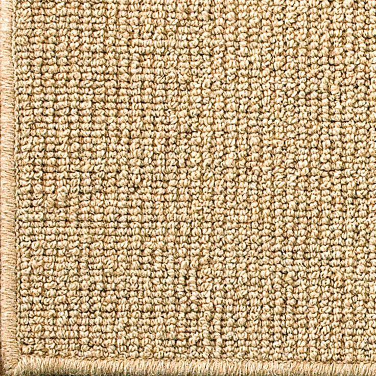 Wool Sisal W/ Serged Binding Rug In Natural 8u0027 Square $528 Or 10u0027