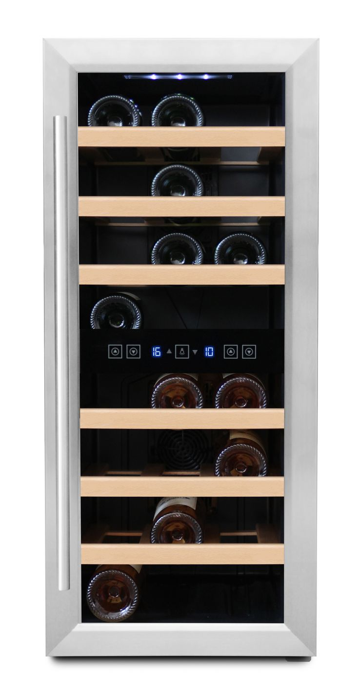 Free-standing wine cooler - 24 bottles (W: 35,5 x H: 84 x D: 51,1 cm) | Wine Coolers and Wine Cabinets from Winestoragecompany.co.uk'