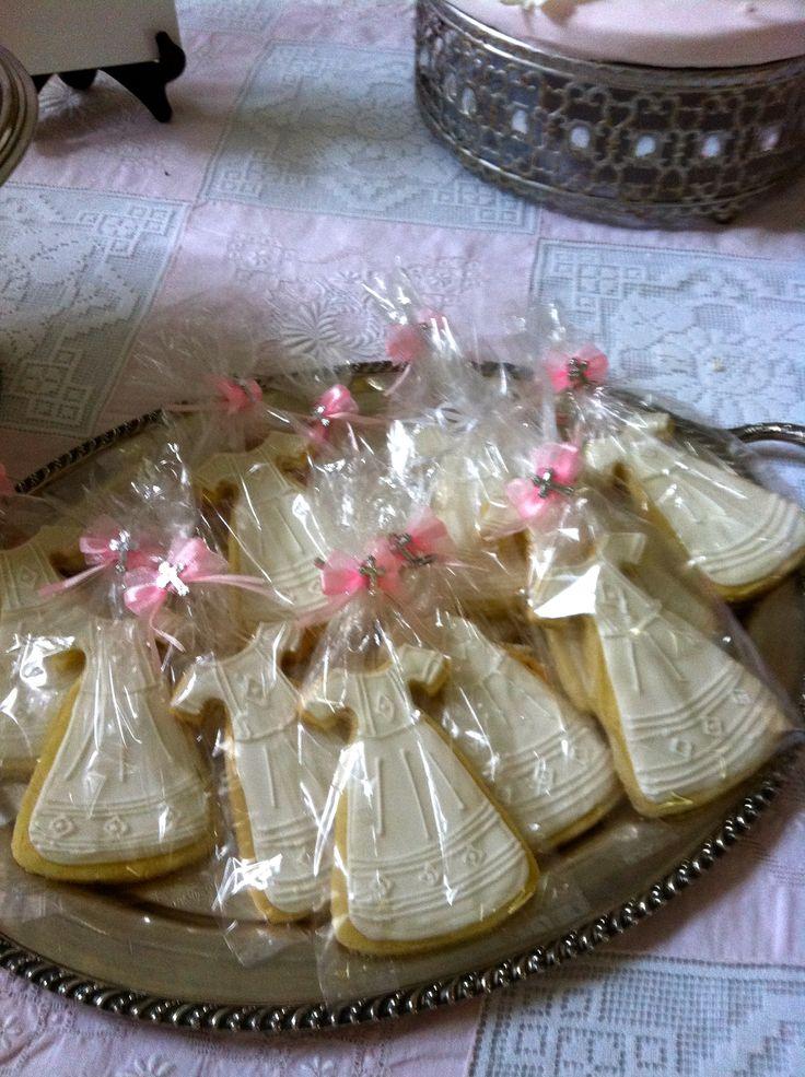 First Communion Dress Sugar Cookies Sweet Grace