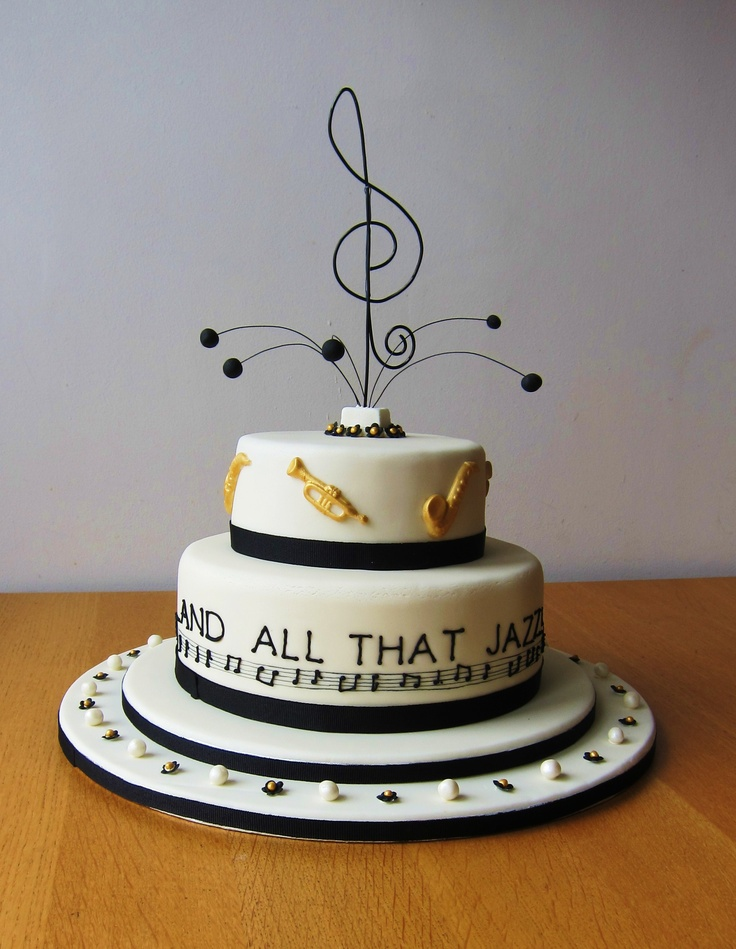 Birthday Cake Pics For Fb : 17 Best images about Jazz cakes on Pinterest Cap d agde ...