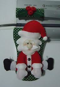 Santa decora nevera