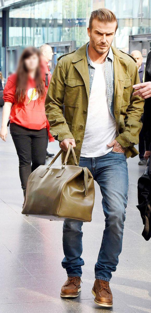 » デビッド・ベッカム、抜群のファッションセンス「ミリタリージャケット×デニム」 #髪型 #ファッション | 海外セレブ&セレブキッズの最新画像・私服ファッション・ゴシップ | Jinclude