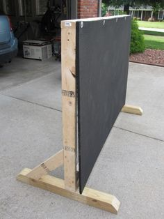 step by step photos and supply list for archery backstop