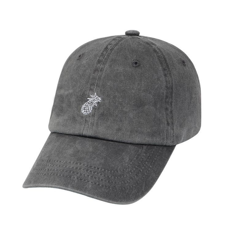 Unstructured Pineapple Embroidered 100% Cotton Washed Dad Hat Polo Baseball Cap #Hatphile #BaseballCap