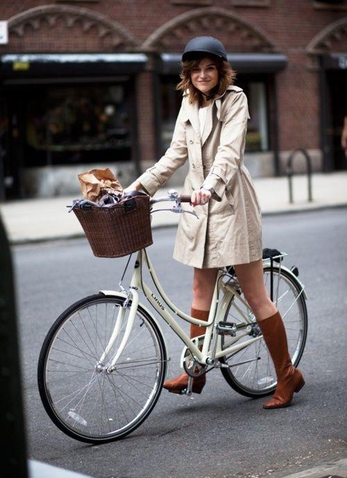 Girl + Bike + Helmet