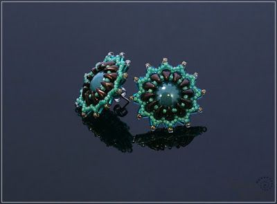 Spirala beading: Carlina in teal