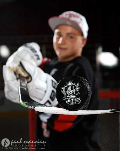 Hockey Senior Pictures in Metro Detroit senior portraits joe louis detroit red wings 20120728