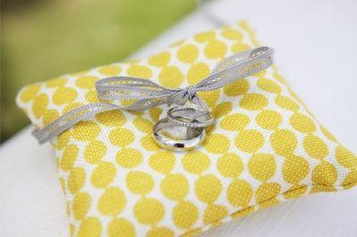 yellow ring pillow