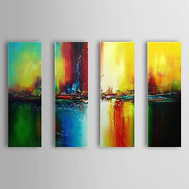 Hand Painted Oil Painting Abstract Set of 4 1307-AB0478 – USD $ 109.99