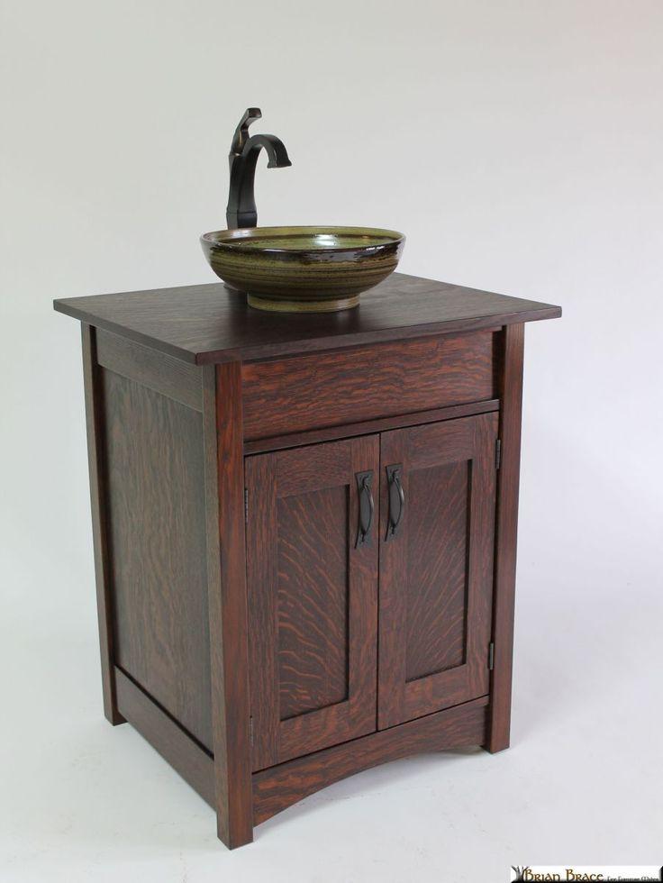 Brian Brace Fine Furniture - E.C. Ricicot Art Sinks - Arts & Crafts - Craftsman - Mission - Bungalow - Bathroom