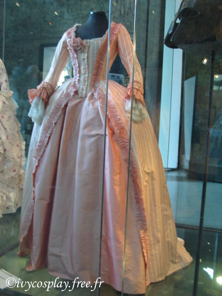 Rosamaria G Frangini | AllThingsAboutMarie | Peach Stripe Marie Antoinette dress (from the movie)