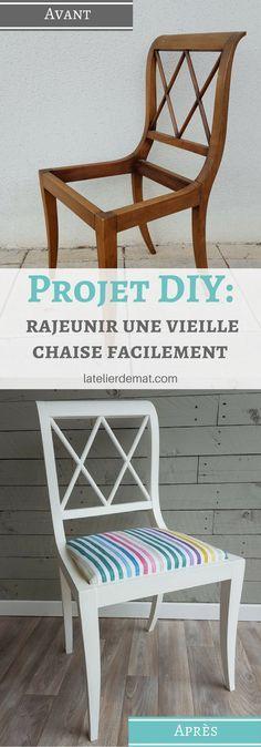 seconde vie d 39 une chaise trouv e la poubelle. Black Bedroom Furniture Sets. Home Design Ideas