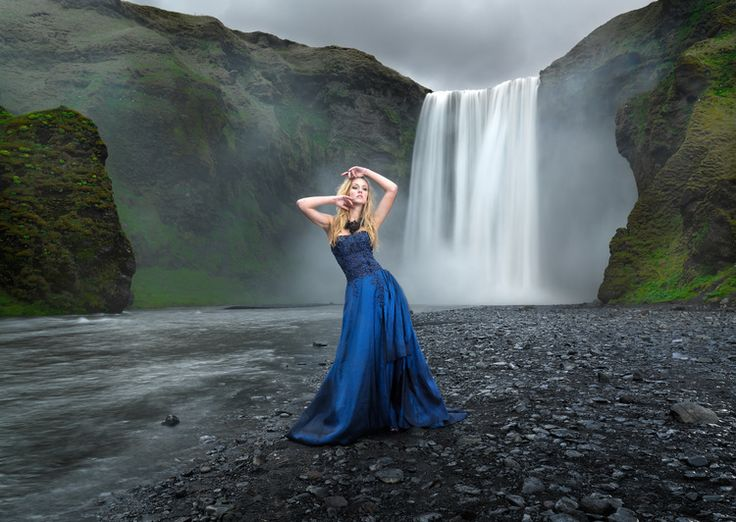 Gorgeous scenery offset by breathtaking model captured in Iceland by Karl Taylor.