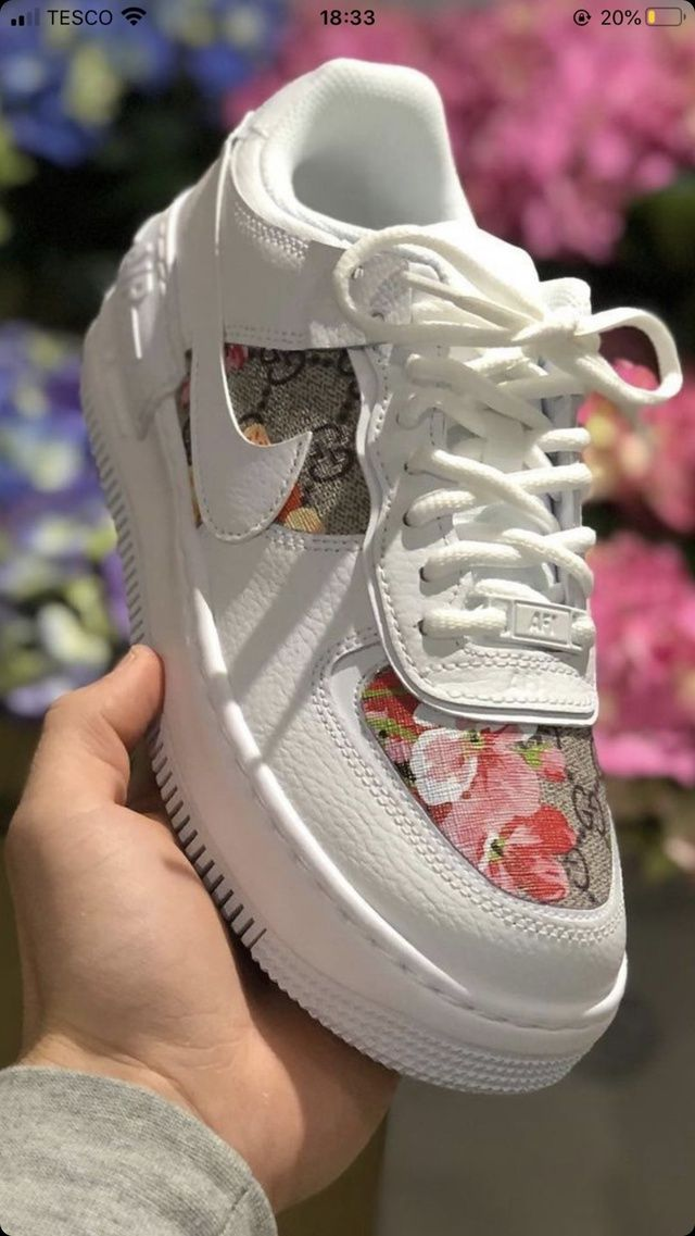 Air Force 1 Shadow X Gucci Bloom In 2020 Nike Air Force Sneaker Air Force Sneakers Air Force Slightly lifted midsole for a touch of in order to navigate out of this carousel please use your heading shortcut key to navigate to the next or previous heading. pinterest