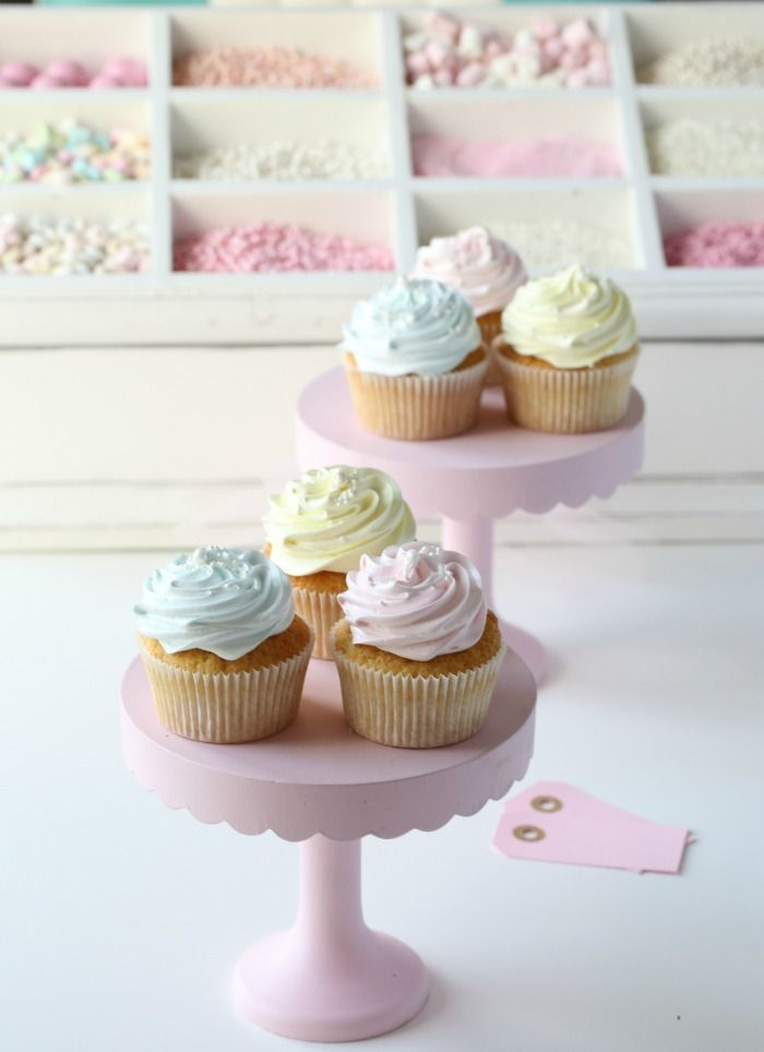 Sweet vanilla cupcakes on Passion for Baking. What a lovely website. :)
