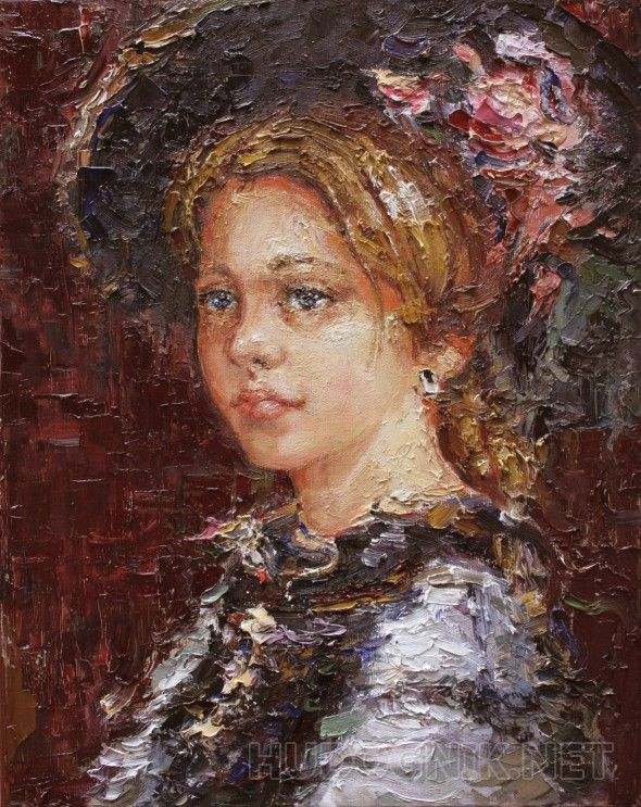 """""""Юная Софи"""". Данная картина принимала участие в Международной выставке-конкурсе современного искусства """"Неделя искусств в Милане"""".   1 место в номинации """"Авангардный живописный портрет""""."""