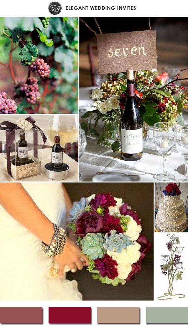 marsala wine themed deep red spring wedding color ideas 2015 #elegantweddinginvites