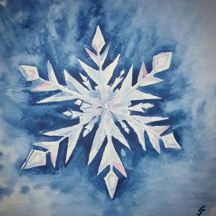 Snowflake watercolour