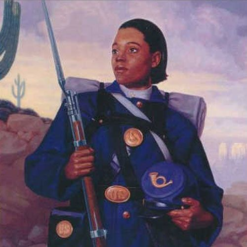 In 1866, Cathay Williams became the first African-American woman to enlist in the U.S. Army. She posed as a man, enlisting under the pseudonym William Cathay. (Image from U.S. Army)