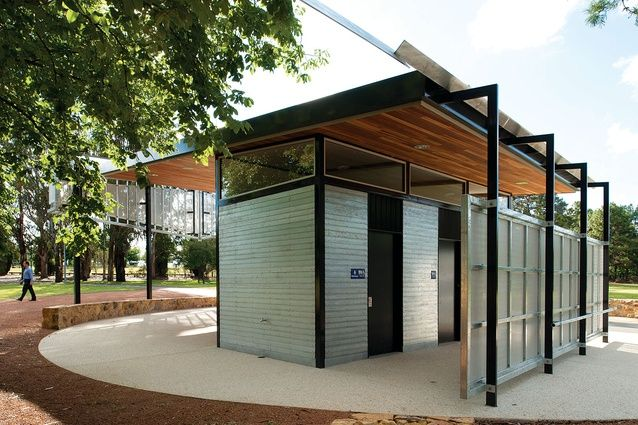 An amenities block in Canberra's parliamentary triangle by Townsend and Associates Architects