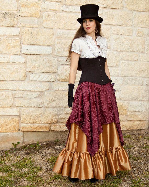 Brocard Bourgogne Pixie jupe - Renaissance vêtement - Costume d'Halloween - Ren Faire costume - Costume de gitane - Pirate - médiéval