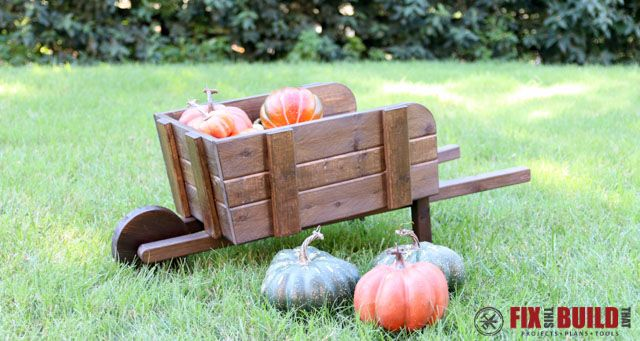 Build this DIY Rustic Wheelbarrow to add to your fall decor. This project is a great beginner project and an easy build! Full walkthrough inside.