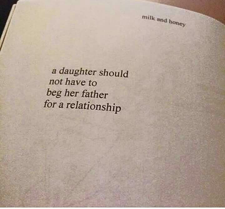 Father abandonment issues on daughter