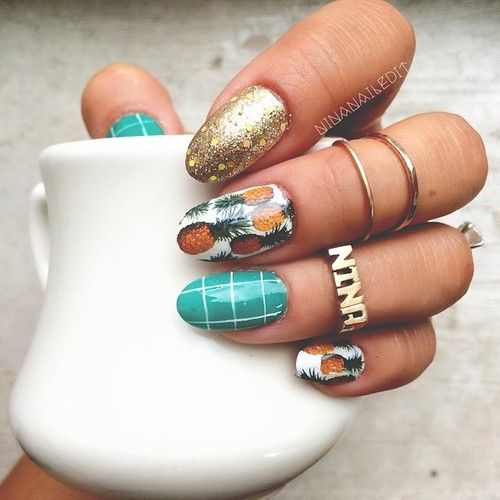386 best spring and summer nails images on pinterest make up moonshineeeeee nailed itnail art designspineapple prinsesfo Image collections