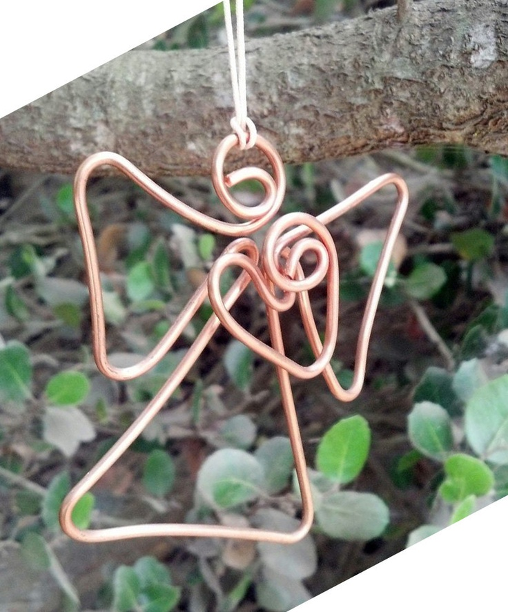 Guardian Angel Ornament (copper wire). $12.00, via Etsy - kjs