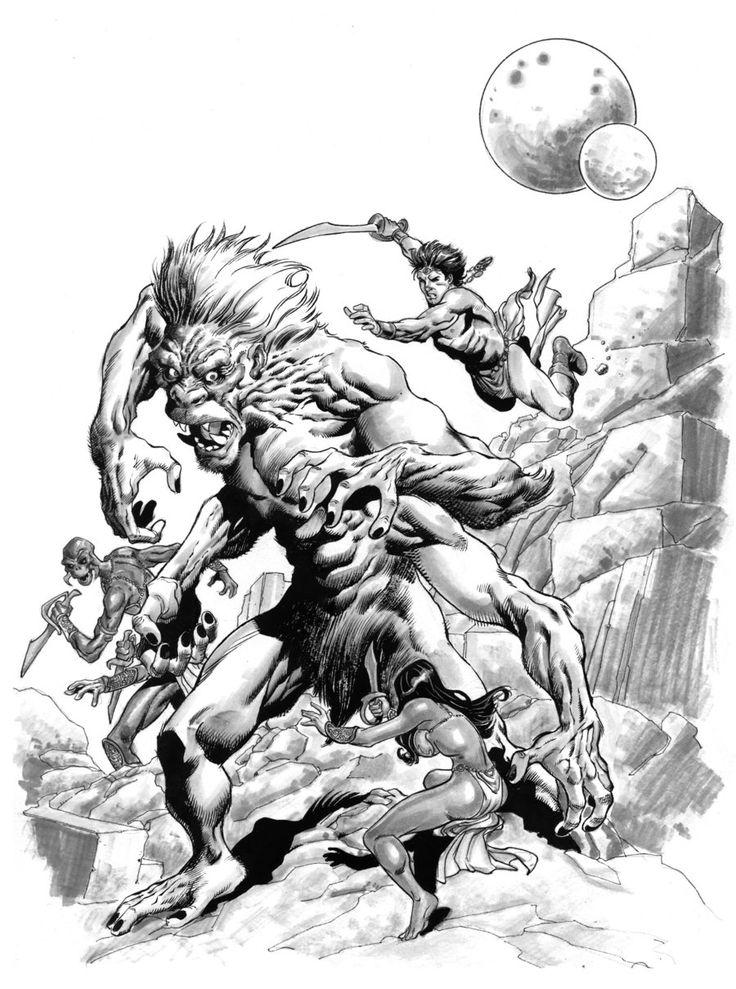 John Carter and the White Ape by aaronlopresti on deviantART