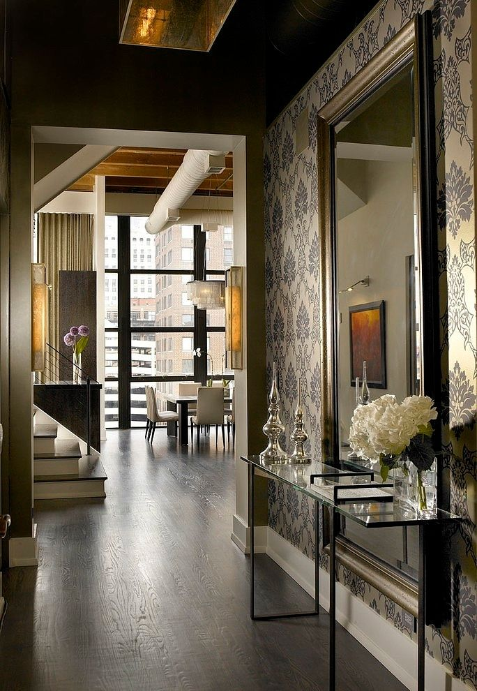 Private Loft Residence by Jamesthomas, LLC. Love the console literally in front