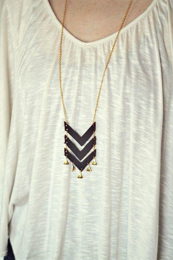 Quite cute chevron necklace.