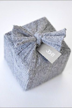 You can also repurpose old, itchy sweaters. | 27 Clever Gift Wrapping Tricks For Lazy People
