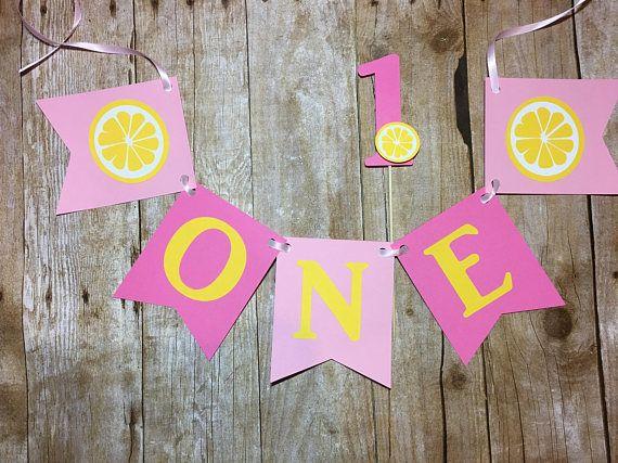 Bandera de la silla alta de limonada. Bandera una