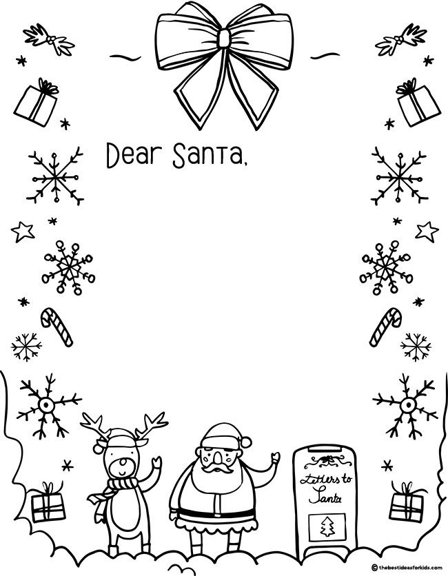 Letter To Santa Template The Best Ideas For Kids Santa Letter Template Santa Coloring Pages Santa Template