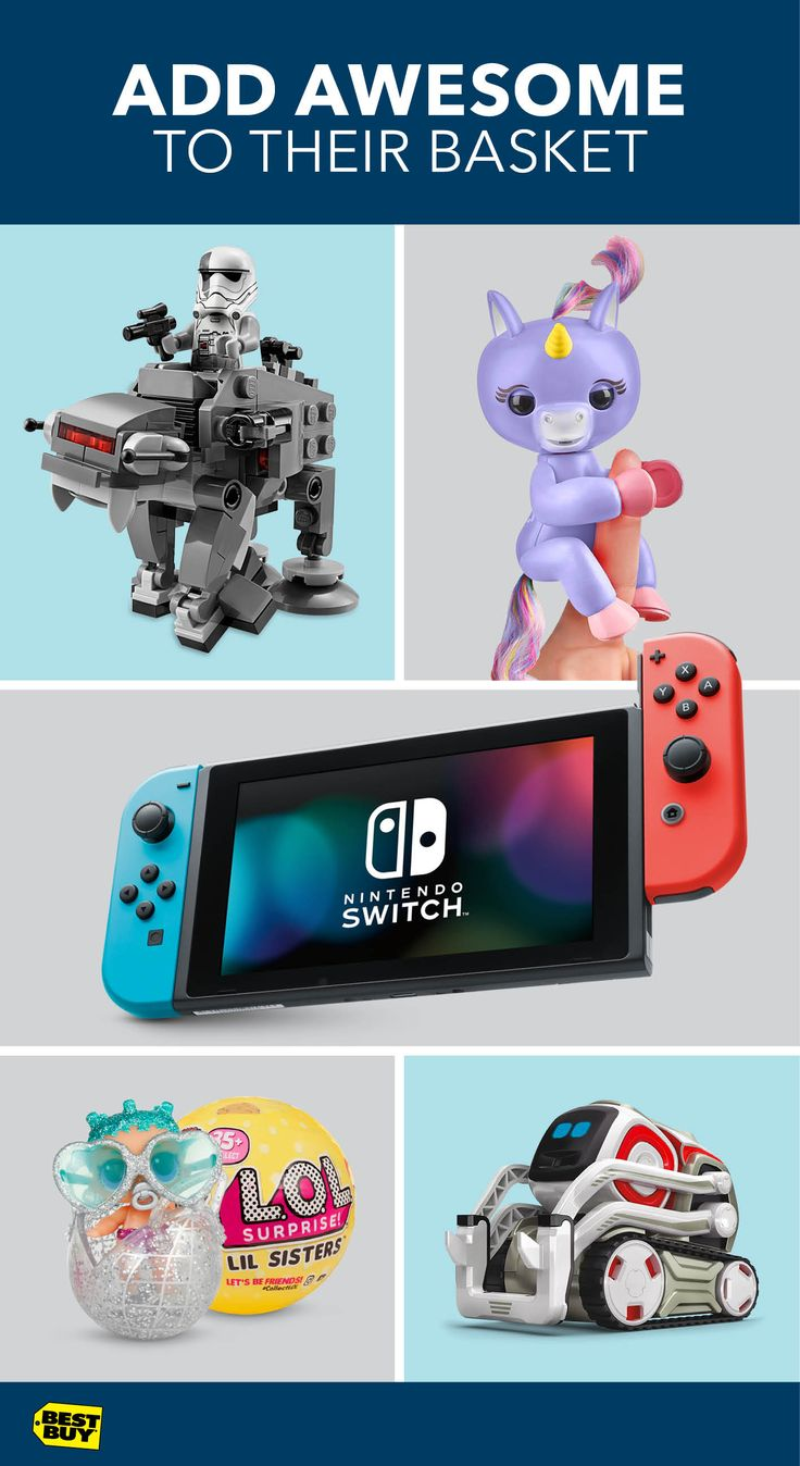 From techy to classic, we've got you covered for Easter toys. Your little Star Wars fan will have fun with a new LEGO Star Wars Microfighters set. Have a collector in your family? Fingerlings and L.O.L. Dolls will have them jumping with joy. And for the gamers and robot fans, the Nintendo Switch and Anki Cozmo will keep them engaged and entertained for hours.