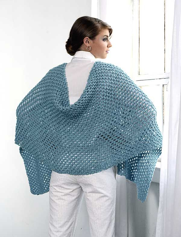 Free Pattern: Rectangular Openwork Shawl crafty ideas ...