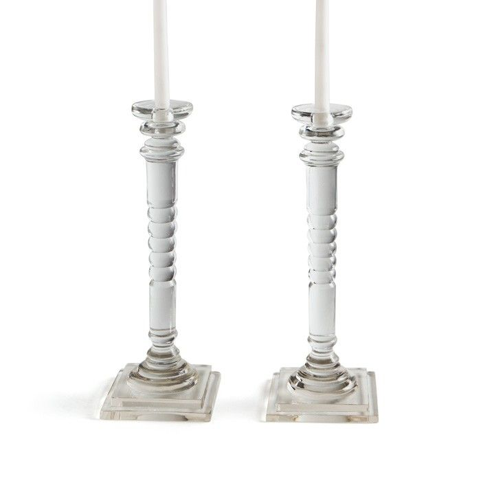 Pair of Yale Glass Candlesticks