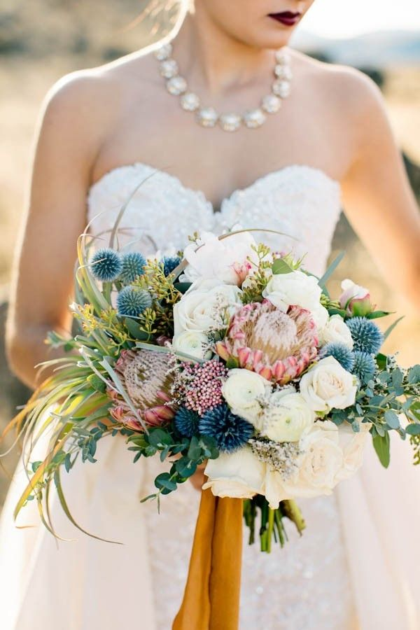 Dusty blush, blush, and ivory spring bouquet | Image by Photography by Betty Elaine