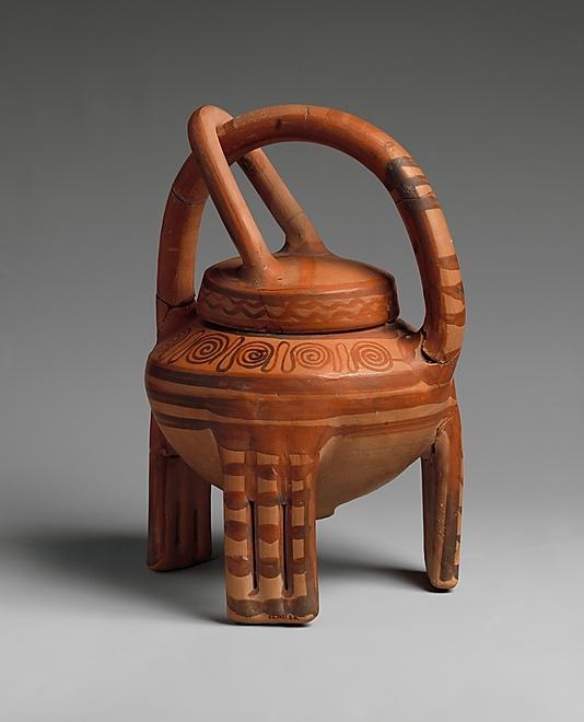 "Terracotta ""basket vase"", Late Helladic IIIA, ca. 1400–1300 B.C., Helladic, Mycenaean."