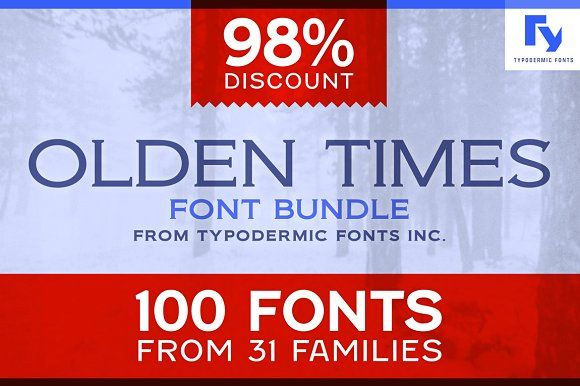 Olden Times Font Bundle by Typodermic Fonts Inc. on @creativemarket