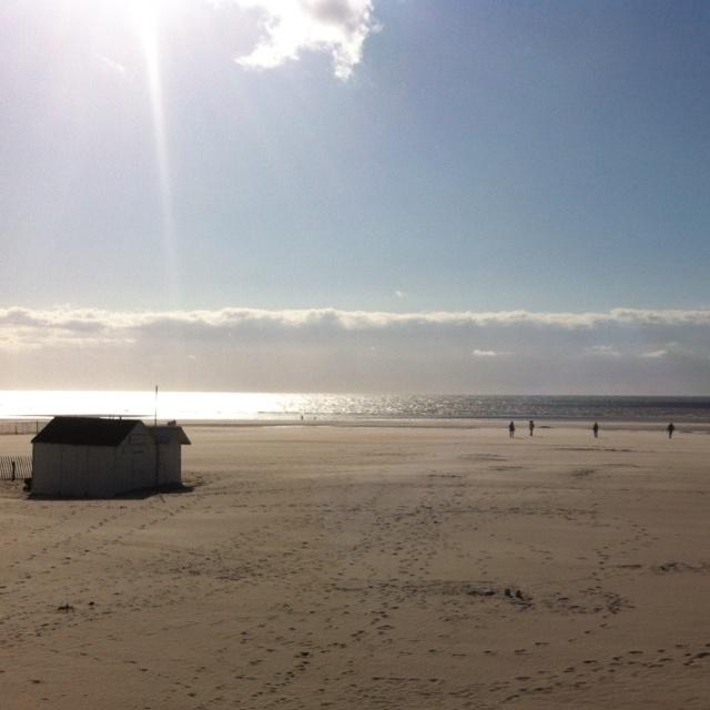 Sunny beach of Le Touquet Paris Plage