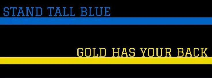 Thin blue line, gold line