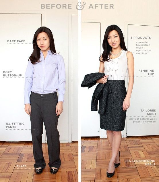 39 best before and after clothing makeover with stylist for Dress shirt for interview